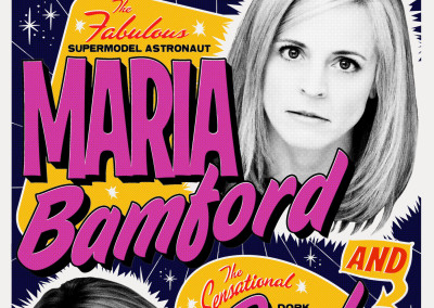 Maria Bamford and Jackie Kashian Stand-Up Comedy Living Room Show - Poster Design
