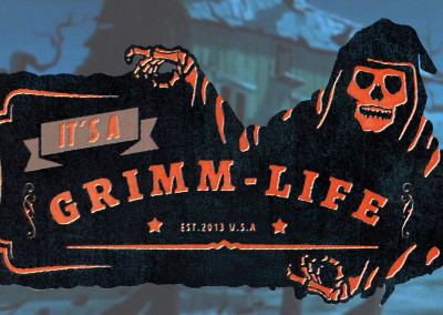 It's a Grimm Life - 2D Logo Design/ Line Art