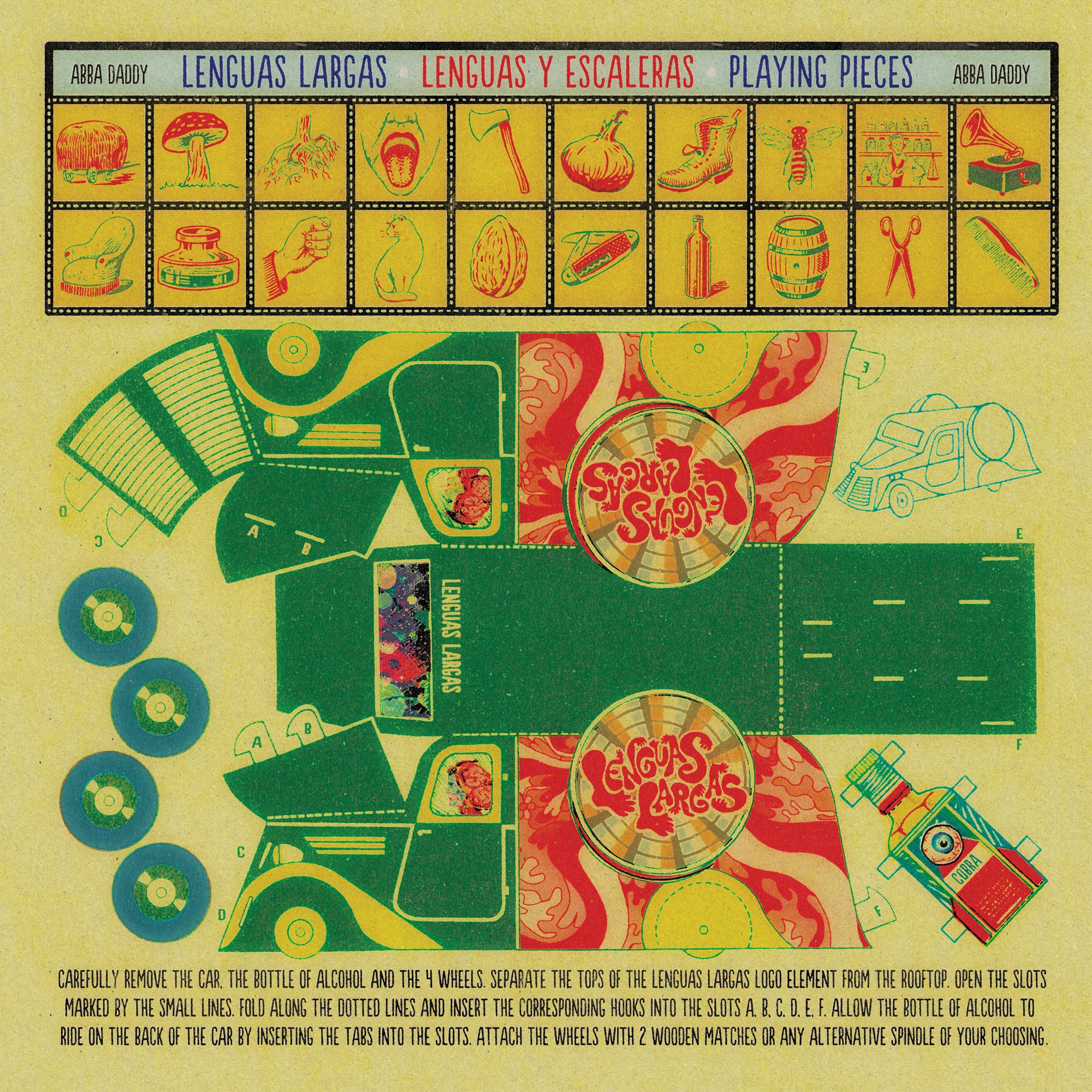 "Lenguas Largas ""Abba Daddy"" LP - Insert Graphic Design"