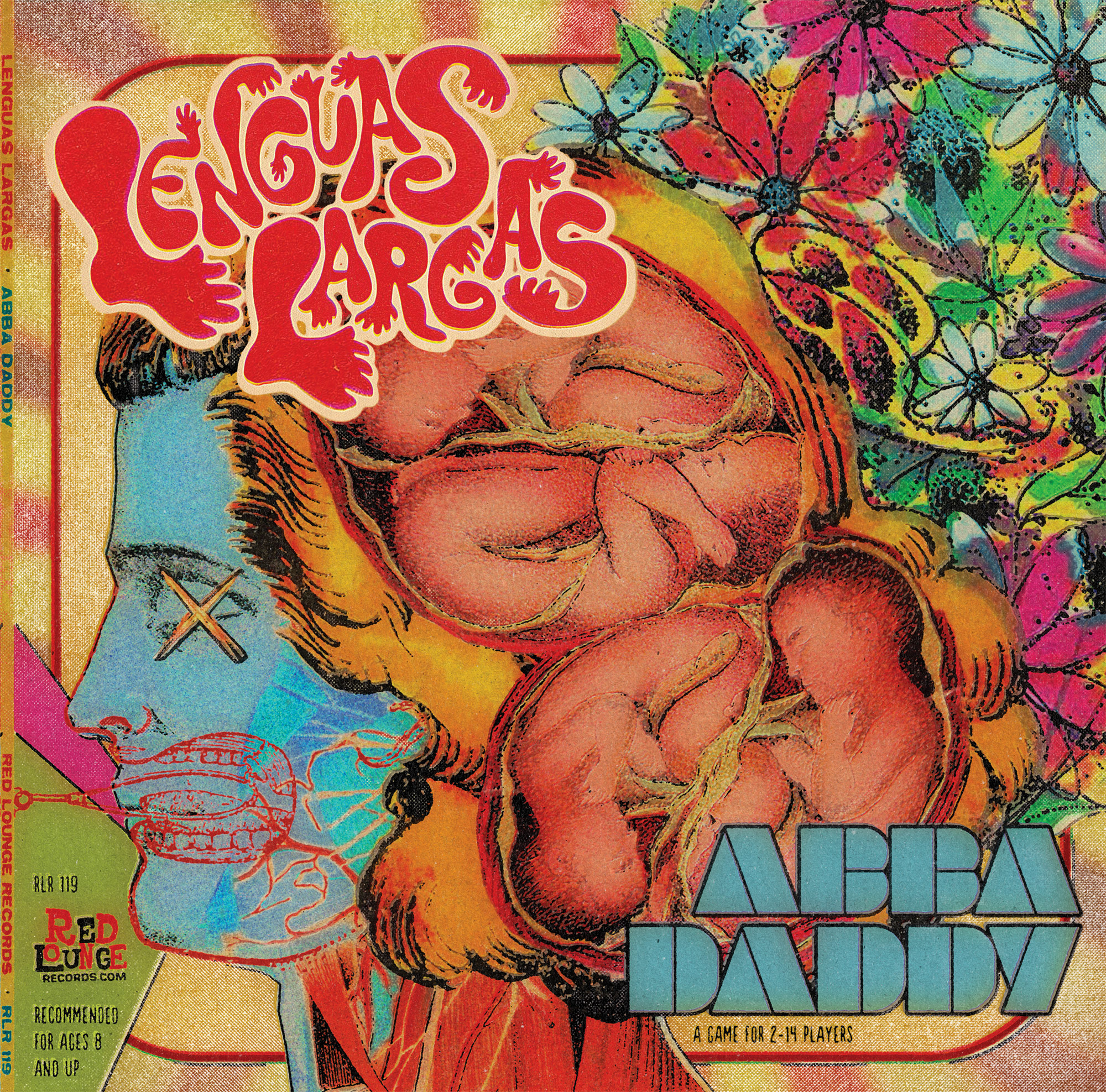 "Lenguas Largas ""Abba Daddy"" LP - Front Cover Graphic Design"