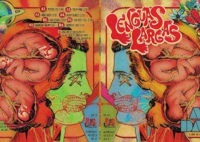 "Lenguas Largas ""Abba Daddy"" LP - Gatefold Exterior Graphic Design"