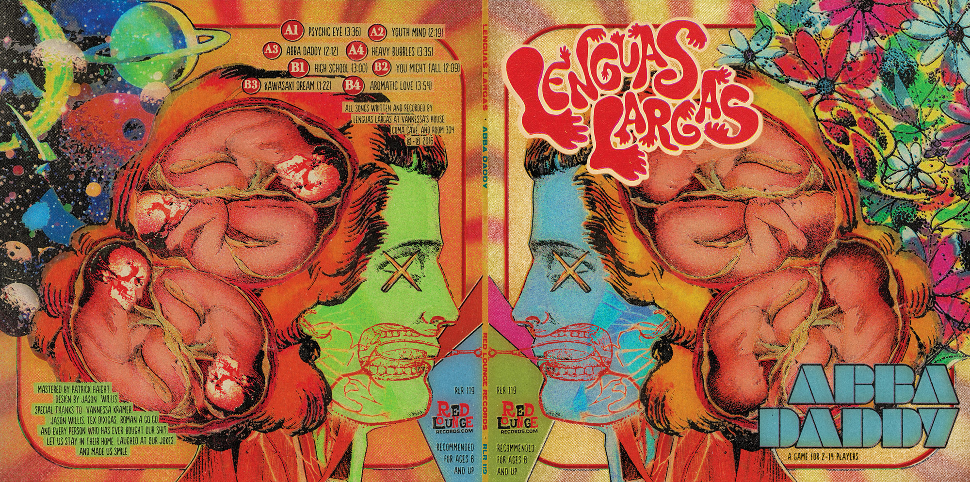 "Lenguas Largas ""Abba Daddy"" LP - Gatefold Exterior Graphic Design"