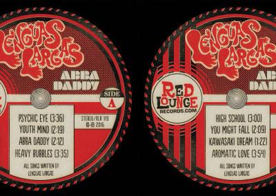 "Lenguas Largas ""Abba Daddy"" LP Labels - Graphic Design"