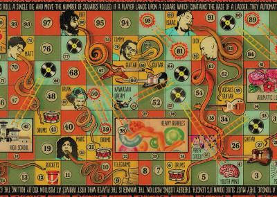 "Lenguas Largas ""Abba Daddy"" LP - Gatefold Interior Graphic Design - ""Lenguas y Escaleras"" Board Game"