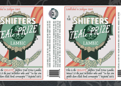"They Might Be Giants - Shape Shifter - ""Shifters Teal Prize Lambic"" Label"