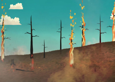 Mt Lemmon Science Tour - Motion Graphics - Forest Fire History 05