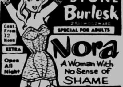Detroit's Stone Burlesk - Print Ad: 2-24-1957
