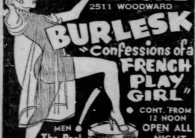 Detroit's Stone Burlesk - Print Ad: 1-1-1958