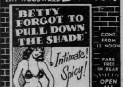 Detroit's Stone Burlesk - Print Ad: 3-2-1958