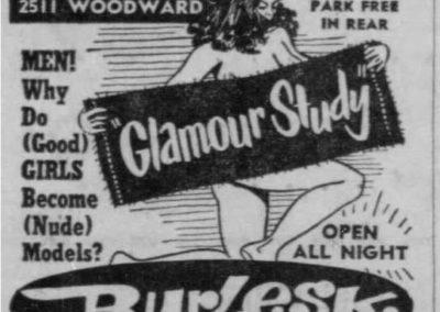 Detroit's Stone Burlesk - Print Ad: 4-4-1958