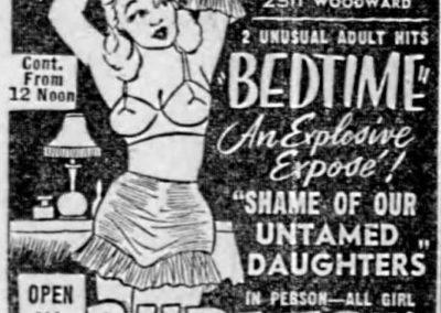Detroit's Stone Burlesk - Print Ad: 5-8-1957