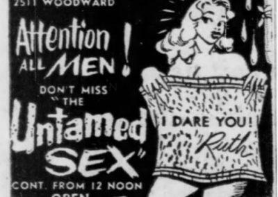 Detroit's Stone Burlesk - Print Ad: 5-9-1958
