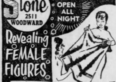 Detroit's Stone Burlesk - Print Ad: 5-1-1963