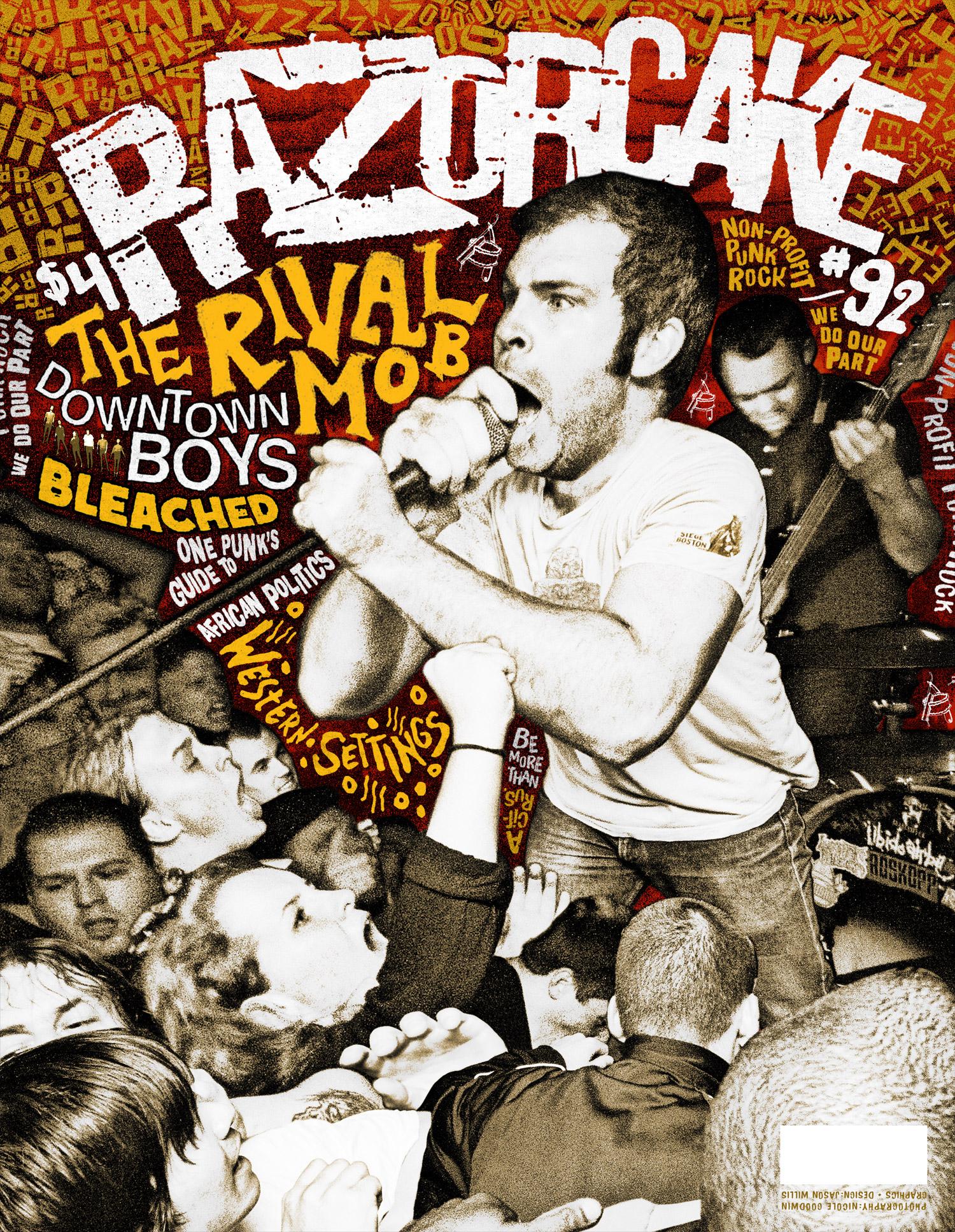Razorcake 92 - The Rival Mob - Graphic Design