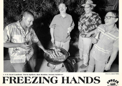 Freezing Hands - B/W Promotional Glossy